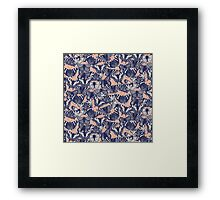 butterfly pale coral Framed Print