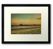 Folly Beach at Sunset: Charleston SC Framed Print