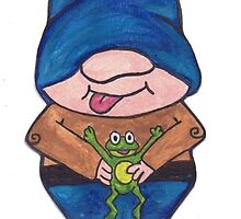Gnome frog by amberelladesign