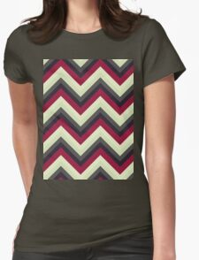 Modern Red Chevrons Womens Fitted T-Shirt