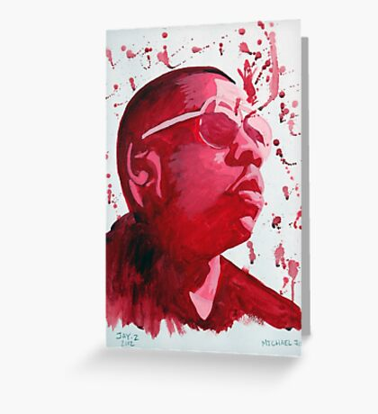 Jay Z Greeting Card