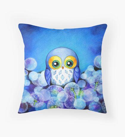 Lunar Owl Throw Pillow