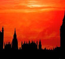 British Houses of Parliament - London, England by Steve Woods