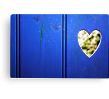 What becomes of the bokeh hearted? - valentine card Canvas Print