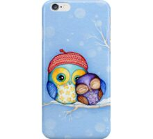 Owl in a Little Red Beret iPhone Case/Skin
