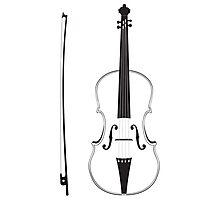 Violin Silhouette Photographic Print