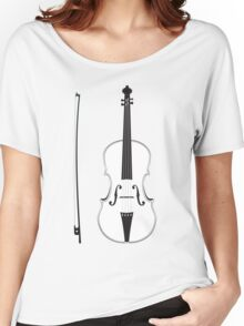 Violin Silhouette Women's Relaxed Fit T-Shirt