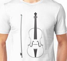 Violin Silhouette Unisex T-Shirt