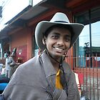 cow boy smile by samudra