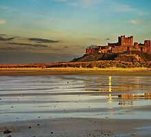 Bamburgh Castle Dusk by Phillip Dove