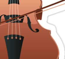 Violin with Bow Sticker