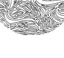 Doodle Swirl Pattern Sticker