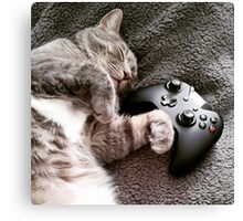 Gaming Catnap Canvas Print