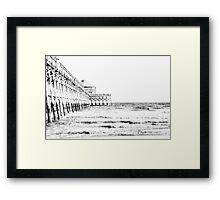 Folly Beach Pier: Charleston, SC Framed Print