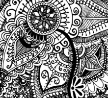 Flower Doodle Pattern Sticker