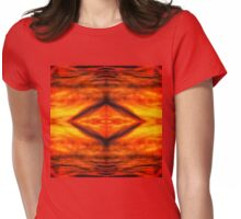 Abstract stirred sunset Womens Fitted T-Shirt