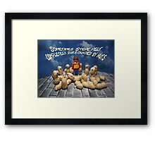 Surrounded by nuts - male Framed Print