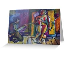 ARTIST AND MODEL(C1997) Greeting Card