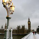 Big Ben in the snow by Alastair Humphreys