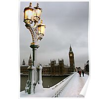 Big Ben in the snow Poster