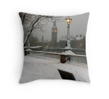 Big Ben in the snow - 2 Throw Pillow
