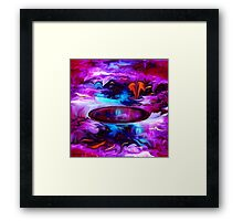 Down Deep Inside - Abstract 32+ wall Art + Products Design  Framed Print