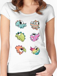 Baby Monsters - The Whole Family Women's Fitted Scoop T-Shirt