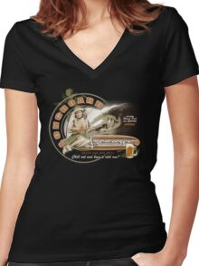 longboard lounge club Women's Fitted V-Neck T-Shirt