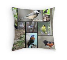 Menagerie of Birds Throw Pillow