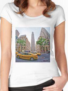 Rockefeller Center, New York City Women's Fitted Scoop T-Shirt