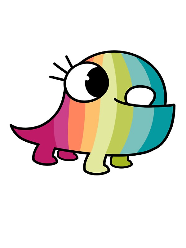 Quot Baby Monster The Colourful One Quot Stickers By Meep