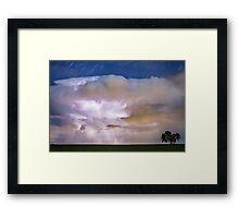 Dancing Thunderstorm Cell On The Horizon Framed Print