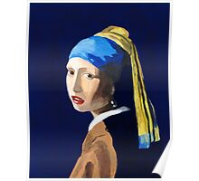 The Girl with a Pearl Earring after Vermeer Poster