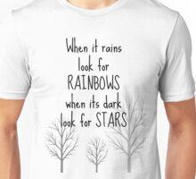 Life quote shirt - When it rains Unisex T-Shirt