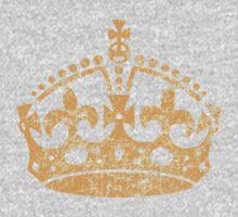 Distressed Grunge Keep Calm Crown One Piece - Long Sleeve