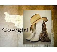 Southwest Western Cowgirl Boot Lace Hat Photographic Print