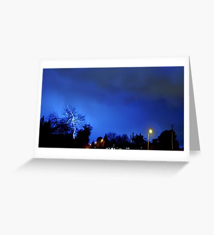 Neighborhood Lightning Strike Greeting Card