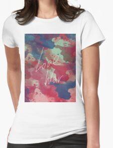 LOVE WAR Womens Fitted T-Shirt