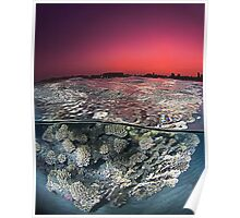 Sunset Over the Red Sea Reef Poster