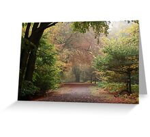 Dreamy Paths of Autumn Gold Greeting Card