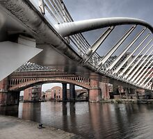Merchants Bridge, Castlefield Area of Manchester by Robin Whalley