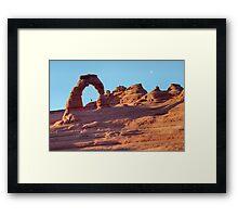 A red rock wonderland. Framed Print