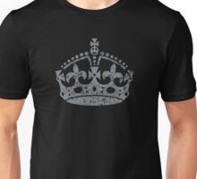 Distressed Grunge Keep Calm Crown Unisex T-Shirt