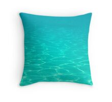 Floating in Turquoise Waters Throw Pillow