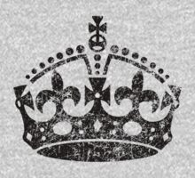 Distressed Grunge Keep Calm Crown by Garaga