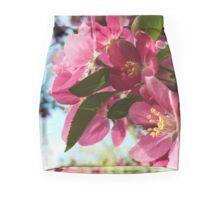 Pink Flowers Mini Skirt