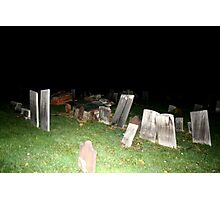 Halloween Night in the Cemetery Photographic Print