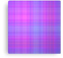 Blue-Rose Plaid Canvas Print