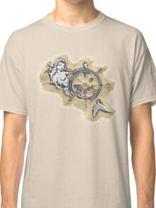 Chrome Mermaid in Sand Classic T-Shirt