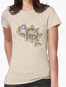 Chrome Mermaid in Sand Womens Fitted T-Shirt